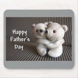 Happy Fathers Day Teddy Bears Hug Mouse Pad