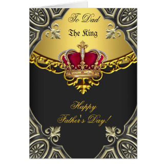 Happy Father's Day The King Crown Gold Photo Card