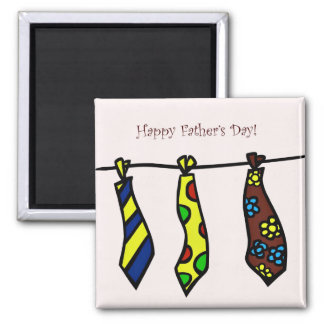 Happy Fathers Day Tie Magnet
