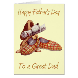 Happy Father's Day To A Great Dad Card (Blank)