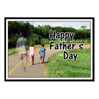 Happy Father's Day to Dad Away From Home Large Business Card