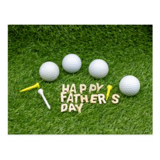 Happy Father's Day to Golfer with golf ball Postcard