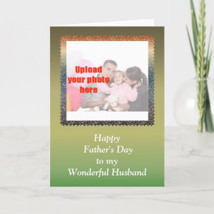 Happy fathers day to husband cards greeting photo cards zazzle happy fathers day to husband from wife add photo card m4hsunfo