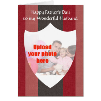 Happy Father's Day to Husband from Wife add photo Greeting Card