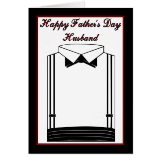 Happy Father's Day to Husband from Wife Card