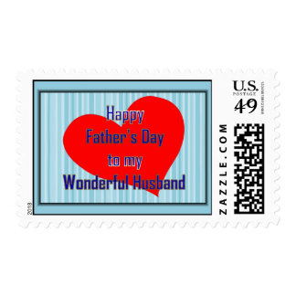 Happy Father's Day to Husband from Wife Postage