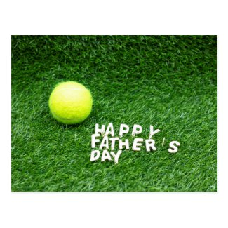 Happy Father's Day to Tennis player with tennis Postcard
