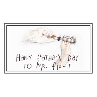 Happy Fathers Day to the Handyman! Business Card Template