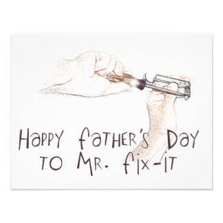 Happy Fathers Day to the Handyman Invitations