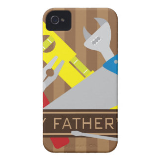 Happy Fathers Day Tools Illustration iPhone 4 Case-Mate Cases