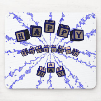 Happy Father's Day toy blocks in blue. Mouse Pad