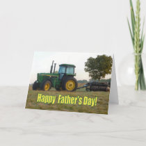 Happy Father's Day Tractor Card