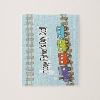 Happy Fathers Day Train Jigsaw Puzzle
