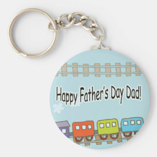 Happy Fathers Day Train Keychain