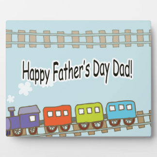 Happy Fathers Day Train Plaque