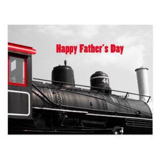 Happy Father's Day Train Postcard