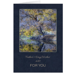 Happy Father's Day - Trees Reflection on the Water Card