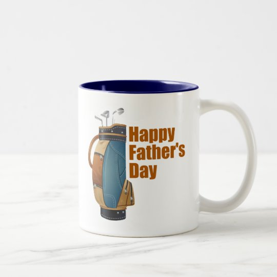 Happy Father's Day Two-Tone Coffee Mug