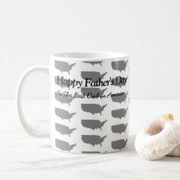 Happy Fathers Day - USA Tiled Mug