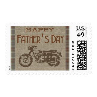 Happy Fathers Day Vintage Motorbike Postage