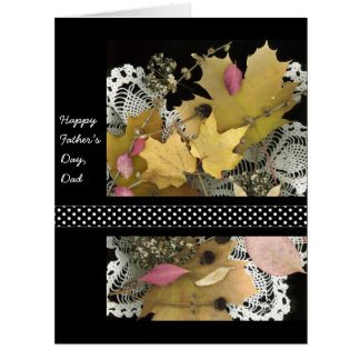 Happy Father's Day Vintage Rustic Leaves Card