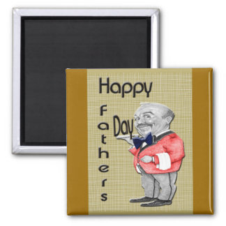 Happy Father's Day Waiter Refrigerator Magnets