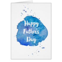 Happy Father's Day|Watercolor Splash Card