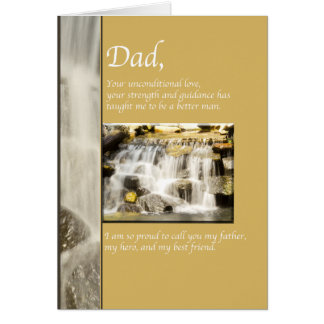 Happy Father's Day Waterfall Card
