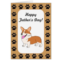 Happy Father's Day Welsh Corgi Card
