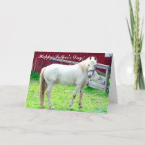 Happy Father's Day White Horse Card