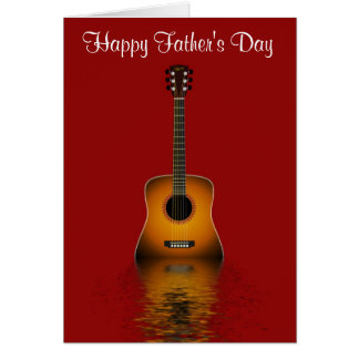 Happy Father's Day with acoustic guitar to Dad Card