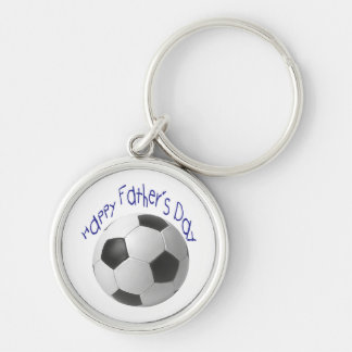 Happy Father's Day with Football Art Key Chain