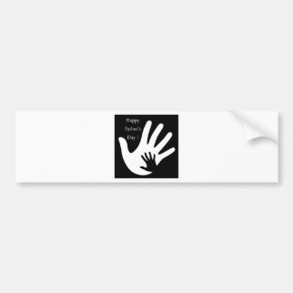Happy Fathers day with hands of father and child Bumper Sticker