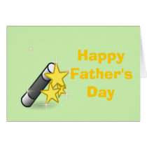 Happy Father's Day with magicians wand Card