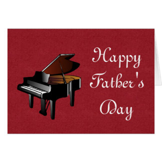 Happy Father's Day with piano Dad Pianist Card