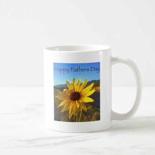 Happy Fathers Day with Yellow WildFlower Coffee Mug