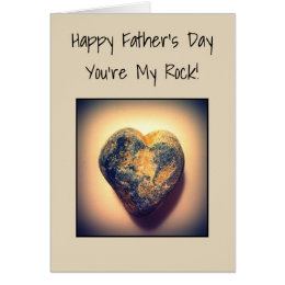 Happy Father's Day, You're My Rock Card