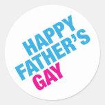 Happy Father's Gay Round Sticker