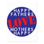 Happy Fathers Love Mothers Happy Post Card