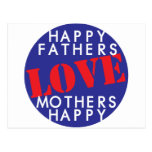 Happy Fathers Love Mothers Happy Post Cards