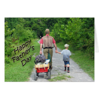 Happy FathersDay   Dad & Son Fishing Trip Greeting Card