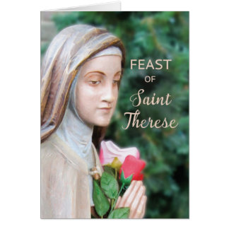 Happy Feast of St. Therese, Rose Card