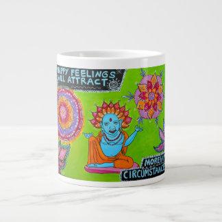 Happy Feelings Will Attract More Happy Circumstanc 20 Oz Large Ceramic Coffee Mug