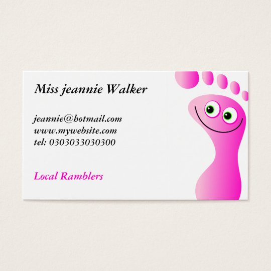 Happy Feet Business Card