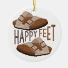 Happy Feet Ceramic Ornament