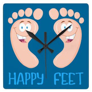 happy feet clock