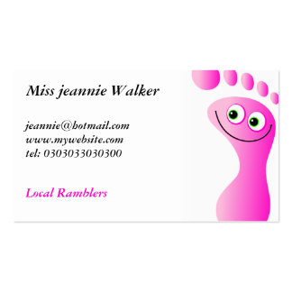 Happy Feet Double-Sided Standard Business Cards (Pack Of 100)