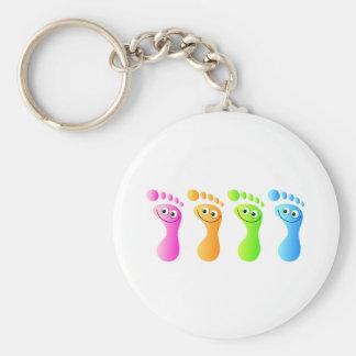 Happy Feet Keychain