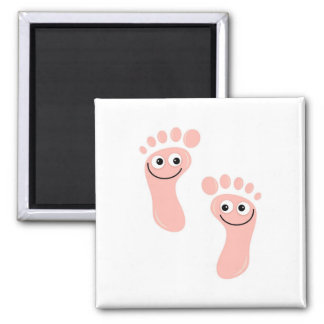 Happy Feet Refrigerator Magnet