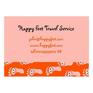 Happy Feet Wallpaper Business Card Template